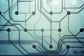 Transparent modern circuit board