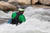 Expert Kayaker In White Water Buena Vista