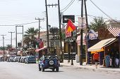 Street In Laganas Resort On Zakynthos Island
