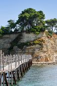Bridge To Agios Sostis Island In Greece