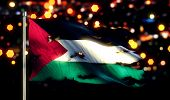 Palestine National Flag Torn Burned War Freedom Night 3D