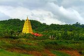 Pagoda And Green Tree
