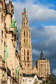 Spire Of Cathedral Of Our Lady, Antwerp, Belgium