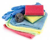 Sponges, Towels And Dishwashing Detergent