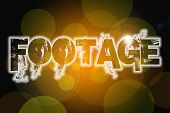 Footage Word On Vintage Bokeh Background, Concept Sign