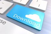 Cloud Download Keyboard Button