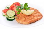 Chicken Schnitzel With Vegetables And Herb