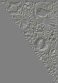 Metal Relief Moravian Folk Ornament
