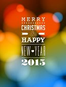 Merry Christmas and Happy New Year 2015 Card - Vetor EPS10