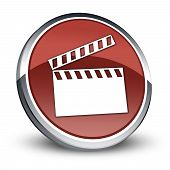 Icon, Button, Pictogram Clapperboard