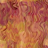 art abstract colorful chaotic waves seamless pattern in Klimt style; background in purple and gold c