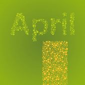 Abstract Dotted Text - Months: April