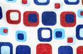 abstract square shape 4th of july background