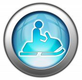 Icon, Button, Pictogram Snowmobiles