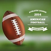 American Football on Blured Background. Vector