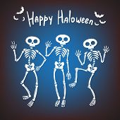 image of halloween characters  - greeting card for Halloween - JPG