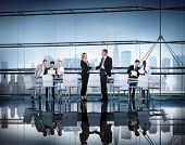 Business People Working Conference Room Agreement Teamwork Connection