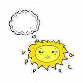 cartoon unhappy sun
