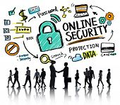 Online Security Protection Internet Safety Business Handshake Concept