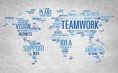 Global Business Vision Growth Success Teamwork Concept