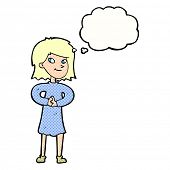 cartoon woman making plans