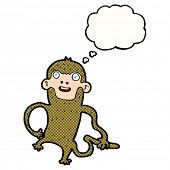 cartoon monkey with thought bubble