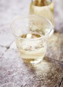Glass of white wine (selective focus)