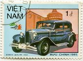 VIETNAM - CIRCA 1985: A stamp printed in Vietnam, shows 1932 Bianchi Berlina
