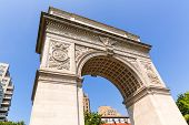 Manhattan Washington Square Park Arch in New York City USA