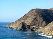 picture of bixby  - Bixby Bridge on a beautiful winter day in Big Sur - JPG
