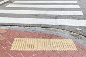 Tile Footpath For A Blind And Crosswalk