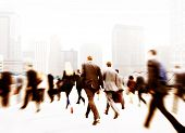 picture of commutator  - Business People Walking Commuter Travel Motion City Concept - JPG