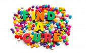Find A Cure Word In Colorful Stone