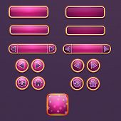 Set of buttons and icons for design