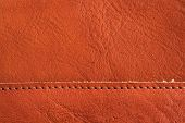 Brown Leather Texture As Vintage Background.