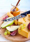 Cheese, Figs, Pear And Honey