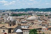 pic of emanuele  - Rome aerial view from Vittorio Emanuele monument - JPG
