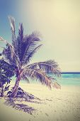 Vintage Filtered Picture Of Tropical Beach. Koh Lipe In Thailand.