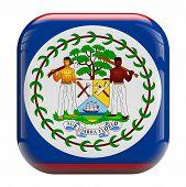 Belize Flag Image Icon