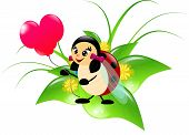 Ladybug With Balloon