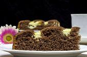 Homemade Cocoa Cake With Cream Cheese
