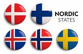 Nordic Scandinavian Flags