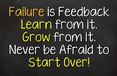 image of start over  - Motivational saying that we learn from failure and it can lead to grow so we can start over if needed - JPG