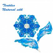 Blue Silk Flower