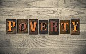 Poverty Wooden Letterpress Concept