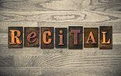 Recital Wooden Letterpress Concept