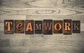 Teamwork Wooden Letterpress Concept