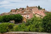 Red Village, Sandstone Area In Rousillon, South France
