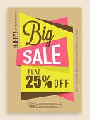 Stylish big sale flyer, banner or template design.