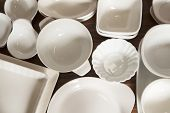White Porcelain Dishes And Utensils
